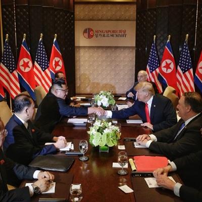 '세기의 담판' 북미 정상회담, 두 정상의 역사적 만남
