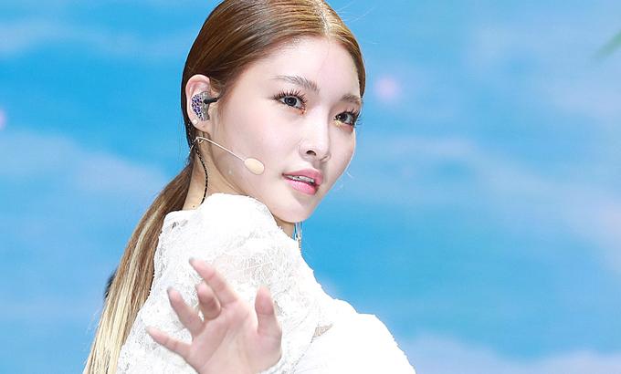 섹시한 여전사 가수 '청하'