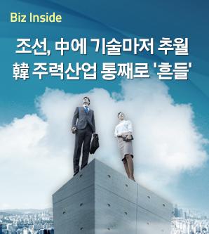 조선, 中에 기술마저 추월..韓 주력산업 뿌리째 흔들려
