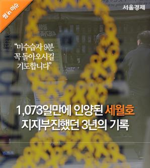 [썸in이슈] 1,073일만에 인양된 세월호, 지지부진했던 3년의 기록