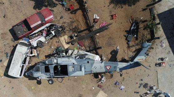 멕시코 지진현장 시찰헬기 추락...13명 숨져