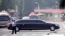 중국간 김정은 탄 '벤츠 S600 풀만 가드' 목격된 그곳