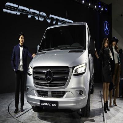 다임러 트럭 코리아가 새로 내놓은 메르세데스-벤츠 밴의 3세대 스프린터 모델 '뉴 스프린터'