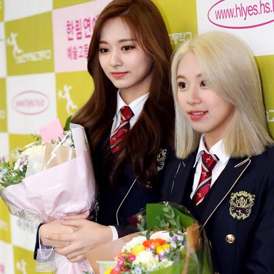 이채영-채원-쯔위-채영-산하, 제8회 한림연예예술고등학교 졸업식