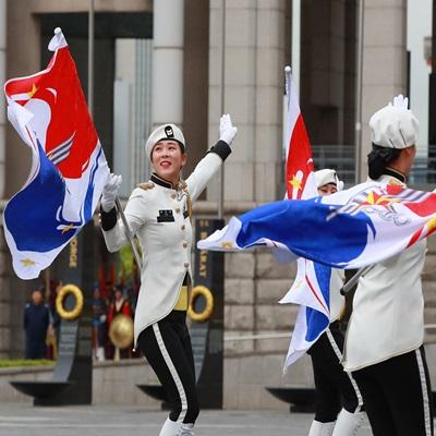 2019 통합 의장시범, 굳은 날씨에도 관람 인파 모여