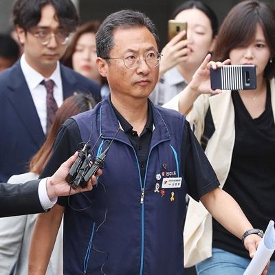 기로에 선 김명환 민주노총 위원장, 영장실질심사 열려