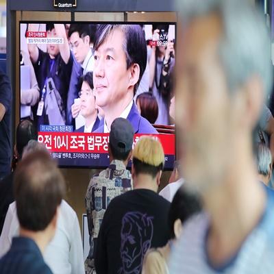 조국 법무부 장관 후보자가 6일 오전 열린 국회 법사위 인사청문회에서 출석했다./연합뉴스