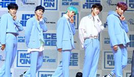 MCND 캐슬제이-빅-민재-휘준-윈, 데뷔 앨범 'into the ICE AGE' 쇼케이스