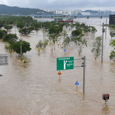 빗물이 삼켜버린 서울·수도권