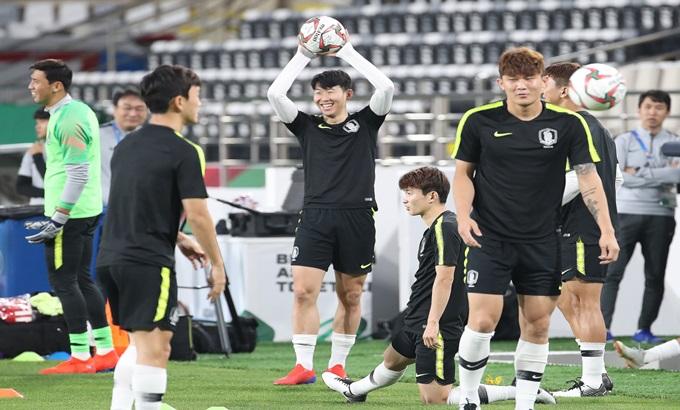 2019 아시안컵 국가대표팀 조별리그 3차전 중국전을 앞두고 훈련