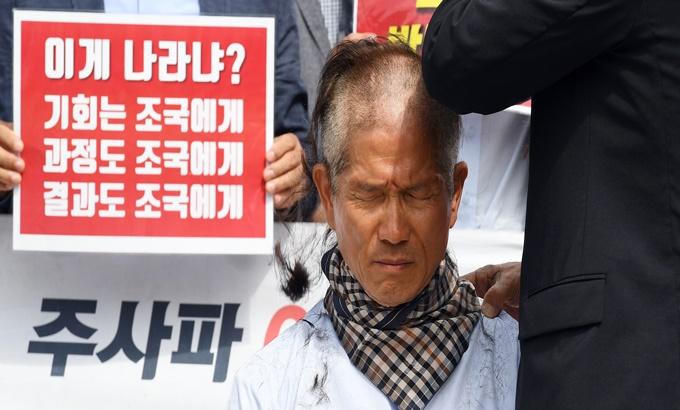 한국당의 '삭발 행렬'..이번엔 김문수
