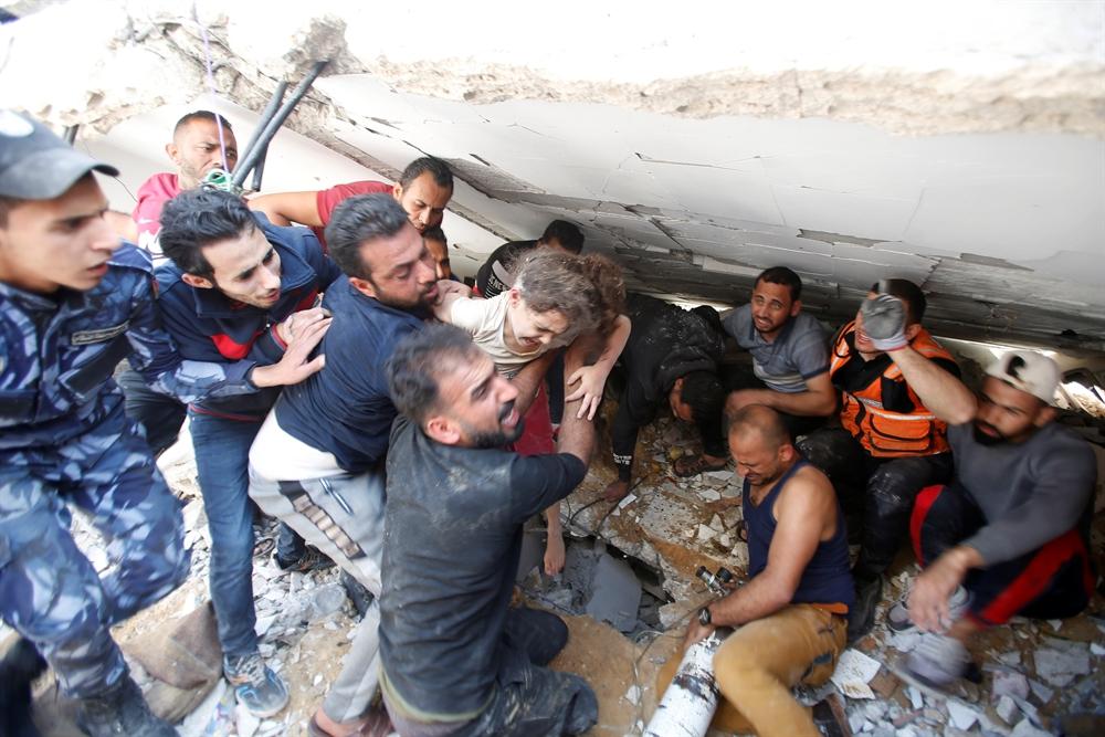 보복 8일째…팔레스타인의 비명