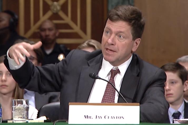 """클레이튼 美 SEC 위원장 """"증권거래법 지킨다면 ICO는 효율적"""""""