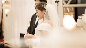 '품절녀' 이수지 결혼식 본식 사진 공개.. 눈부신 웨딩드레스 자태