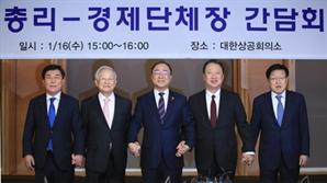 """홍남기 """"기업 부담 경청해 정책에 반영"""""""